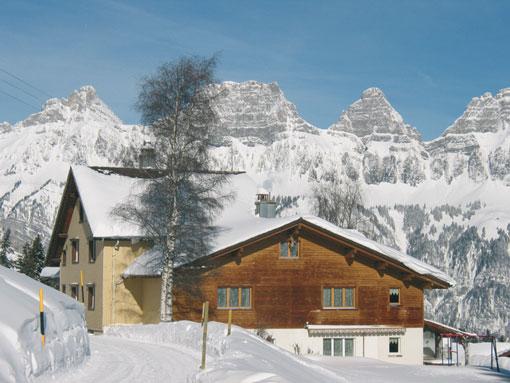 Gruppenhaus Flumserberg im Winter