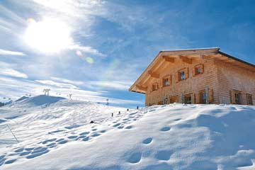 Berghütte im Skigebiet Lofer