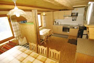 Hüttenstube in der Hütte Mayrhofen