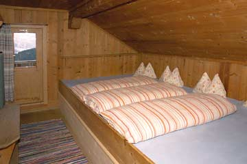 Blick in ein Schlafzimmer
