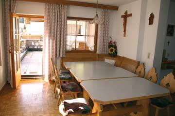 Ess- und Aufenthaltsraum im Ferienhaus Kappl bei Ischgl