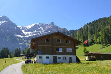 Ferienhaus in Adelboden, Sommeraufnahme