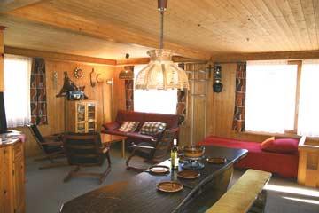 Wohnzimmer im Ferienhaus Flumserberg