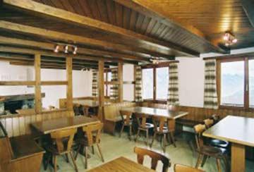 Speise- und Aufenthaltsraum im Lagerhaus Flumserberg