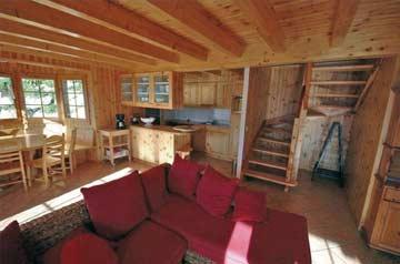 Wohnzimmer im Chalet Les Collons