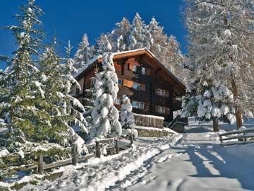 Skihütte Grächen an der Piste