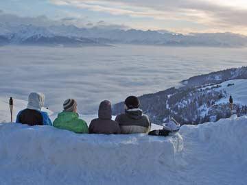 Aussicht vom Skihaus
