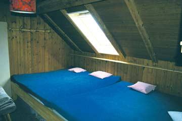 Schlafraum in der Skihütte Engelberg