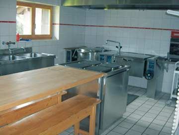 Gastroküche im Ferienhaus Sörenberg