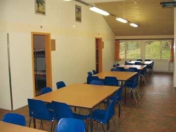 Ess- und Aufenthaltsraum in der Hütte Engelberg
